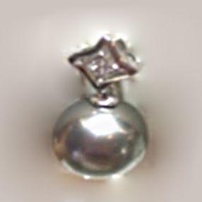 金G18K海水珍珠吊坠  11-11.5mm 圆形 黑色 配钻石 'A'